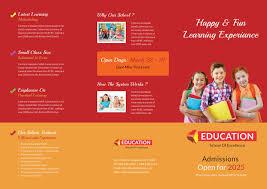 Adorable Kindergarten School A3 Trifold Brochure Download | Free ...