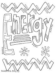 Energy Coloring Pages At Classroom Doodles Classroom Doodles