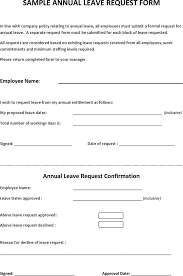 leave form sample premium templates forms sample annual leave request form