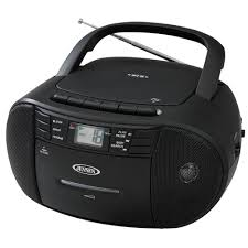 cd 545 portable stereo cd player with cassette recorder and am fm radio