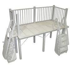 5 x 10 ft Resin Side Deck with Steps and Gate for Above Ground