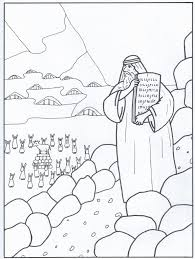 Kleurplaat Tien Geboden 6 12 Jaar Bijbels Opvoedennl Regarding