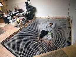 View in gallery. Having a huge hammock bed ...