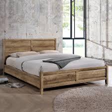 modern queen bed frame. Alice Queen Size Modern Bed Frame In Oak Tone A