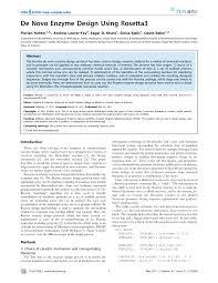De Novo Enzyme Design Using Rosetta3 Pdf De Novo Enzyme Design Using Rosetta3