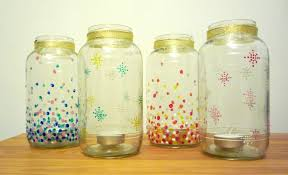 Decorate Jam Jars Hand decorated jam jar luminaries the Little Koo blog 3