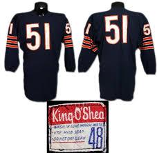 Mid Butkus Game-worn Dick Jersey Bears '60's Durene