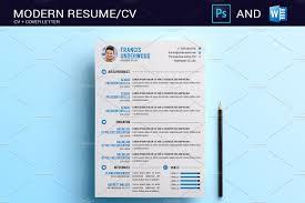 Resume Cv Photoshop Word Resume Templates Creative Market