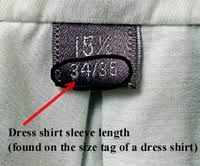 Shirt Neck Size Conversion Chart Size Chart Mens Wear Mybarong