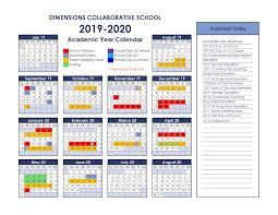Calendars About Dimensions Collaborative School