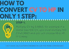 Cv To Hp Horsepower Calculator Formula How Convert And