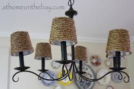 diy pottery barn inspired chandelier shades