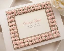 Wedding Guest Book Luxury Personalised Wedding Guest Book Rose Border