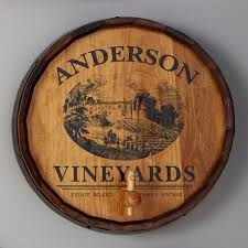 decor wine barrel head wall decor inspiring personalized quarter barrel head sign with spigot vineyard graphic
