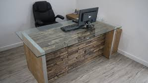 rustic wood office desk. Modren Wood Modern Rustic Reclaimed Wood Office Desk By Ticino Design Throughout R
