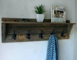 rustic reclaimed wood 5 hanger coat rack with shelf new item on hooks storage baskets white coat hooks with storage baskets white
