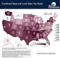 Louisiana Tax Chart The United States Of Sales Tax In One Map Tax