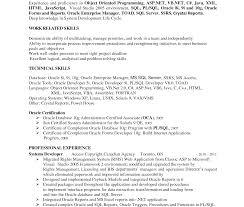 Sql Server Developer Resume Examples Imposingl Developer Resume Format Pl Oracle Example Sample Imposing 48