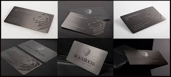 Stainless Steel Business Cards High Quality Custom Printing Brushed Gun Metal Business Cards