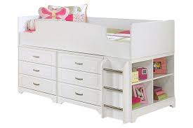 ... Lulu Twin Loft Bed with 6 Drawer Storage, , large
