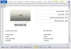 Create An Invoice Template In Word Free Invoice Template For Microsoft Word