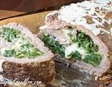 bacon  cheese  and spinach stuffed turkey loaf