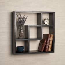 Geometric Square Wall Shelf with 5 Openings - Free Shipping On Orders Over  $45 - Overstock.com - 15851986