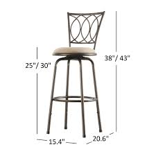 Avalon Scroll Adjustable Swivel High Back Counter Barstool (Set of 3) by  iNSPIRE Q Classic - Free Shipping Today - Overstock.com - 12280141