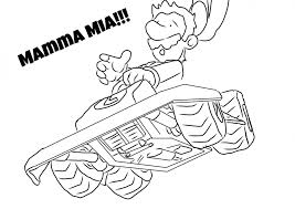 Mario Kart 17 Video Games Printable Coloring Pages