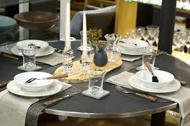 table placemats glass round tables marvelous dining as for set of 6
