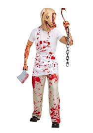 here s the piggy man outfit from house and roanoke this would be scary to e across on