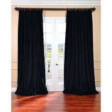 blackout velvet curtains exclusive fabrics warm black velvet blackout extra wide curtain panel absolute zero velvet