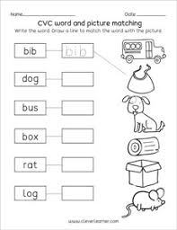 Our phonics worksheets offer the beginning stage of making the connection by identifying the first letter of the names of each object. Cvc Word Worksheets For Preschool And Kindergarten Kids Set 1