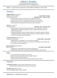Editing Experience Resume Editor Resume Sample Resume Templates