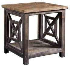 rustic furniture ottawa. spiro reclaimed wood end table rustic furniture ottawa d