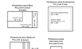 Bed Chart My Pillow Size Chart Muhlis Co