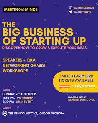 Meeting Of The Minds The Big Business Of Starting Up Startup Calendar