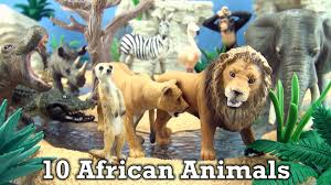 african animals toys. Exellent Animals 10 African Animals Schleich Wild Life Toys  Elephant Lion Zebra Rhino  Hippo Flamingo YouTube Intended Toys I