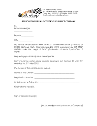 For For Insurance Insurance Letter Letter Letter For