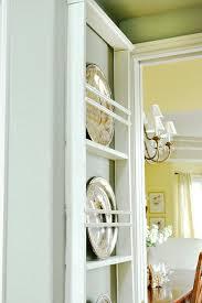 diy hanging wall plate rack