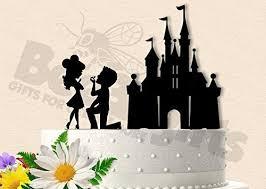 Amazoncom Castle Proposal Big Head Version Wedding Cake Topper