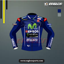 maverick vinales yamaha movistar motogp 2017 leather jacket