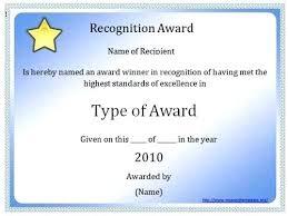 Award Certificate Templates Free Blank Award Templates Word Certificate Template Award