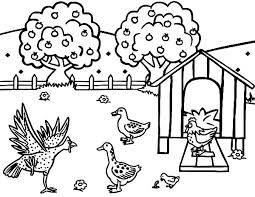 Small Picture Chicken Coop Coloring Pages for Kids NetArt