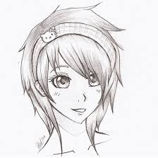 Anime Coloring Pages Anime Girl Sketch By Mr Awesomenessist