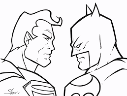 Small Picture Superman Vs Batman Colouring Pages Batman Vs Superman Coloring