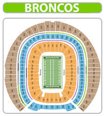 Invesco Field Seating Chart Club Level 49 Veritable Mile High Stadium Chart