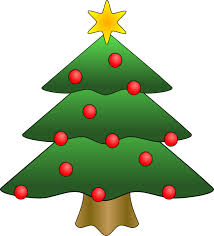 Christmas Tree in Snow clipart, photo, images, and cartoon pictures