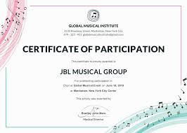 Certificate Of Participation Templates Certificate Of Participation Template Or Word Doc With Docx