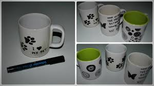 Mug Design Ideas Diy How To Decorate A Mug With Permanent Marker Youtube